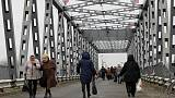 Bridge to peace? Zelenskiy unveils restored span in eastern Ukraine