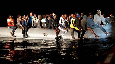 Two toddlers among 73 migrants plucked from drifting dinghy off Libya