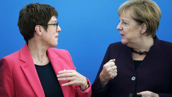 Senior Christian Democrats rally behind would-be successor to Germany's Merkel