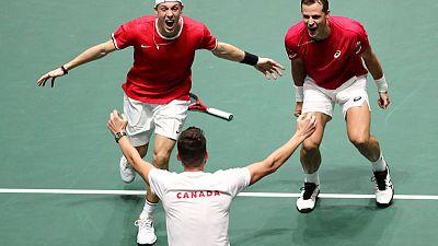 Canada see off Australia to reach Davis Cup semis