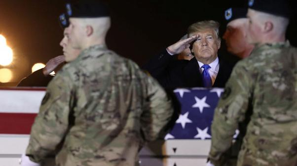 Trump travels to Delaware base to honour two U.S. soldiers killed in Afghanistan