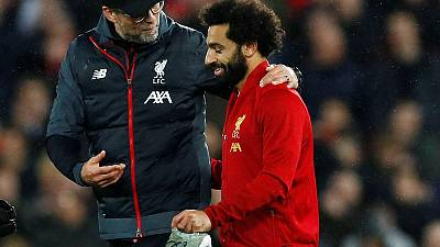 Liverpool manager Klopp sweating on Salah fitness ahead of Palace trip