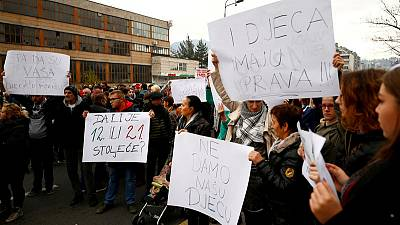 Bosnia sacks children's home managers after protests over abuse