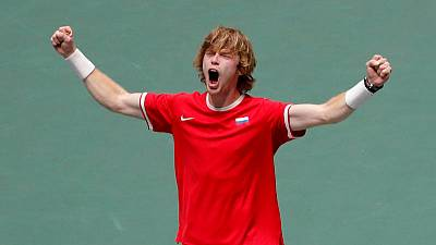 Rublev inspires Russia to Davis Cup quarter-final win over Serbia