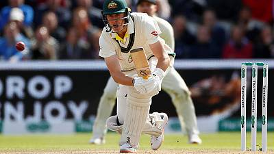 Naseem gets Warner but Labuschagne ton powers Australia ahead