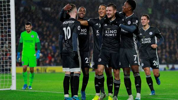 Leicester cruise to 2-0 win over Brighton