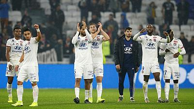 Ten-man Lyon edge Nice 2-1 in heated clash