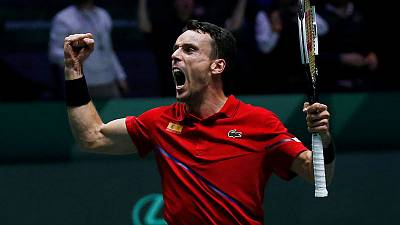 Grieving Bautista Agut gives Spain lead in Davis Cup final