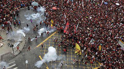 Rio de Janeiro clashes mar Flamengo homecoming after Libertadores win