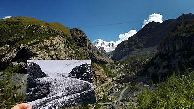 New photos vs old: comparisons show dramatic Swiss glacier retreat