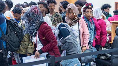 Un troisième groupe de réfugiés évacués depuis la Libye vers le Rwanda avec l'appui du HCR