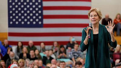 Democrat Warren accuses rival Bloomberg of trying to buy U.S. presidential election