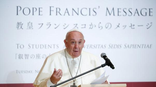 Turning from nuclear message, Pope urges youth to fight for the earth