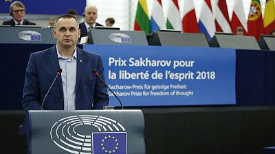 Freed film-maker Sentsov tells Europe: beware of Russia