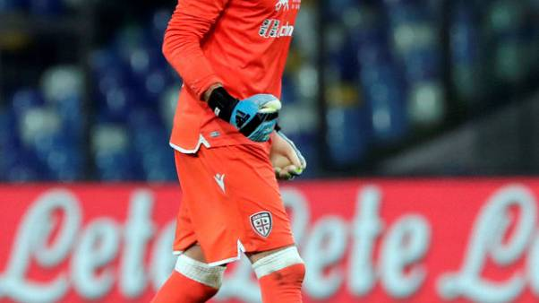 Cagliari keeper Olsen banned for four matches for brawl