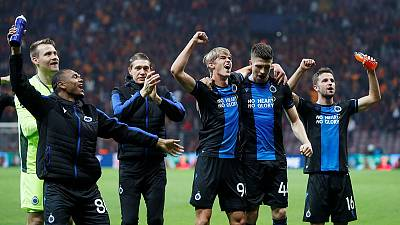 Late equaliser puts Brugge on course for Europa League