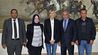 Visite en Algérie de Marielle de Sarnez, présidente de la commission des Affaires étrangères de l'Assemblée nationale