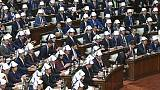 Japan MPs' disaster helmet drill sparks Twitter debate