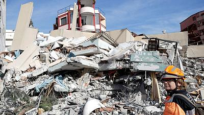 Rescuers in Albania use drones and dogs to find quake victims