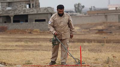 Global death toll of landmines rises due to mines laid by militants