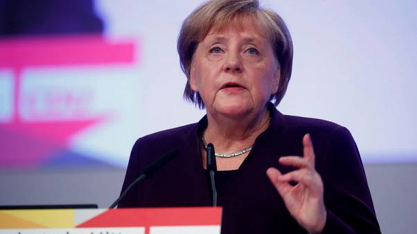Merkel calls for Europe to agree on China 5G policy