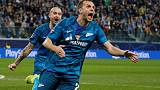 Zenit beat Lyon 2-0 to stay in contention for last-16 spot