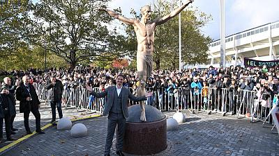 Angry fans vandalise Zlatan statue in Malmo