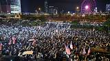 China warns U.S. over Hong Kong law as thousands stage 'Thanksgiving' rally