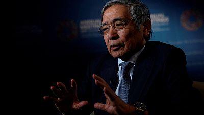 BOJ's Kuroda warns of climate-related risk for financial stability