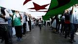 Algerian protesters scuffle with police as election nears
