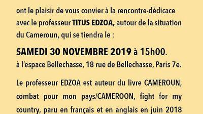 Le professeur Titus EDZOA, ancien ministre et secrétaire général à la présidence de la République du Cameroun lance un Think tank pour le Cameroun et l'Afrique Centrale
