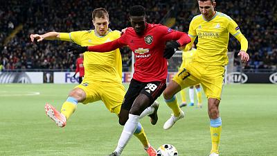 Astana fight back to beat youthful Man United 2-1