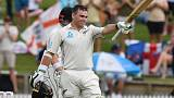 Latham scores ton before rain ends first day early