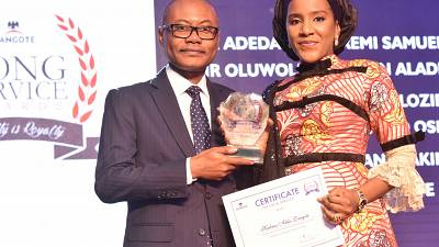 Dangote honors 160 Staff at Long Service Award Ceremony