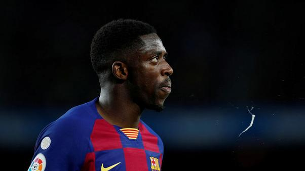 Barca's Dembele out for 10 weeks with hamstring injury