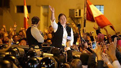 Peru opposition leader Keiko Fujimori walks free from jail