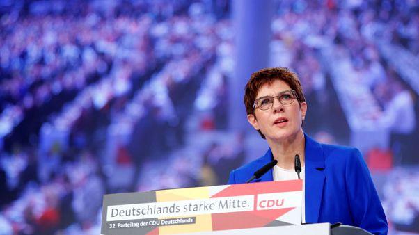 Germany's Kramp-Karrenbauer stands by coalition after SPD vote