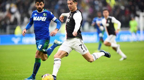 Ronaldo to the rescue as Juventus stumble to draw with Sassuolo