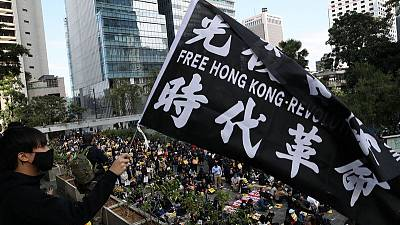 Protests ordered for lunch all week in Hong Kong's business district