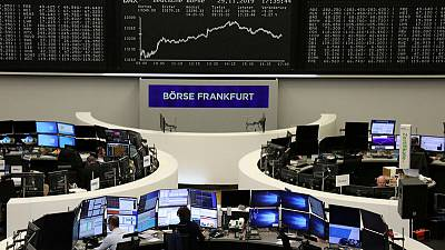 China factory data drives bounce in European shares