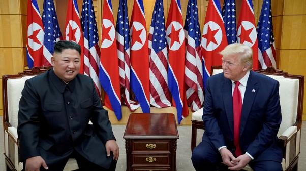 "Trump says North Korea's Kim sure ""likes sending rockets up"""