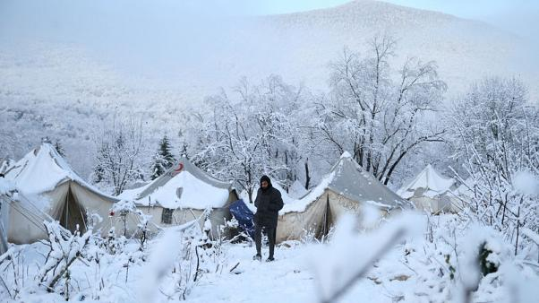 """""""People are not animals""""; stranded migrants freeze in Bosnian forest"""
