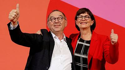New SPD leaders to avoid outright call to quit German government