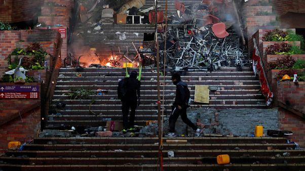 Hong Kong police retrieve fresh trove of petrol bombs from university