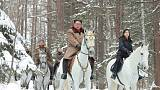 North Korea's Kim signals more confrontational stance with new horse ride, rare party meeting