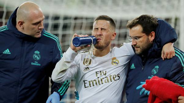 Hazard out of 'Clasico' with fractured ankle