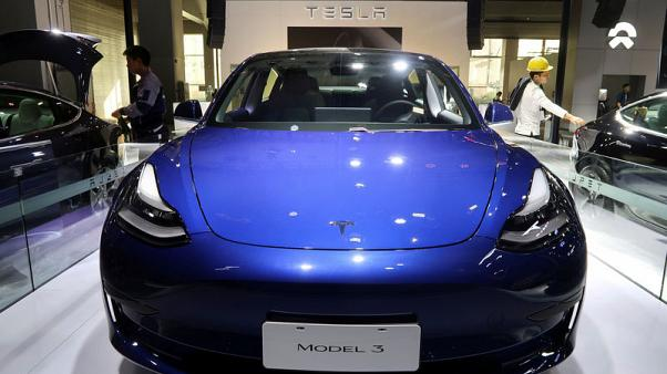 China-built Tesla cars recommended for subsidies - ministry