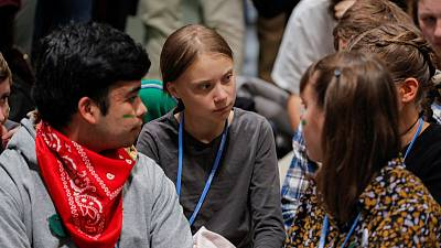 Activist Thunberg completes intercontinental dash to Madrid climate summit