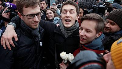 Russia frees anti-Kremlin student protester after opposition outcry