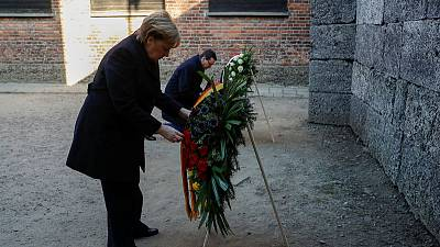 Merkel pays first visit as chancellor to Auschwitz death camp